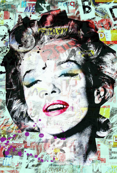 Wall Art - Digital Art - Marilyn  by Mark Ashkenazi
