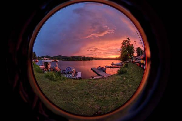 Photograph - Marina Fisheye by Tom Singleton
