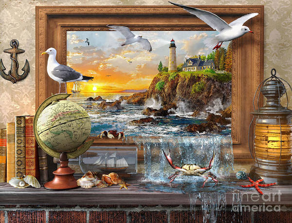 Seagull Digital Art - Marine To Life by MGL Meiklejohn Graphics Licensing