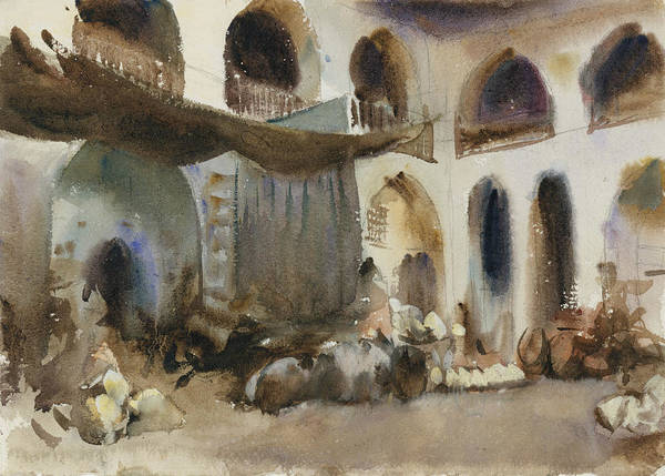 Drawing - Market Place by John Singer Sargent