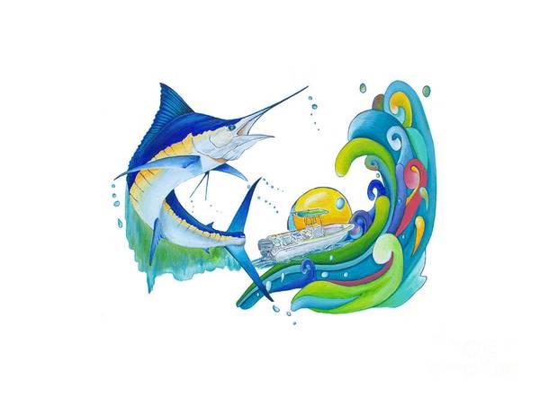 High Jump Painting - Marlin Key West by Shelly Tschupp