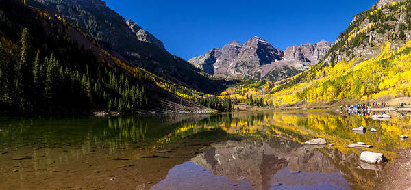 Photograph - Maroon Bells Panorama by Teri Virbickis