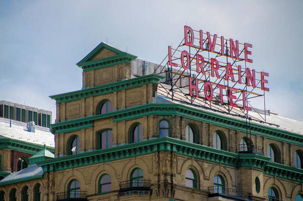 Photograph - Marquee - Divine Lorraine Hotel  - Philadelphia by Bill Cannon