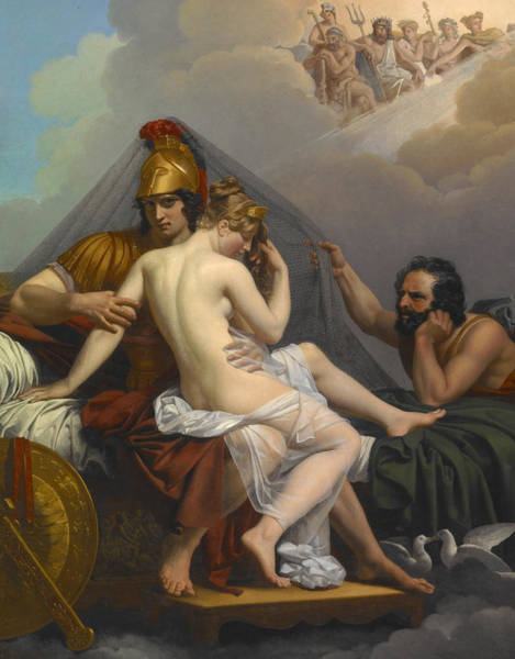 Believers Painting -  Mars And Venus Surprised By Vulcan by Alexandre Charles Guillemot