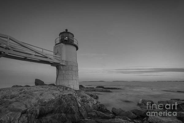 Marshall Point Lighthouse Photograph - Marshall Point Light At Blue Hour by Michael Ver Sprill