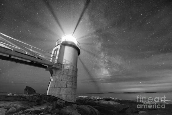 Marshall Point Lighthouse Photograph - Marshall Point Light Milky Way by Michael Ver Sprill