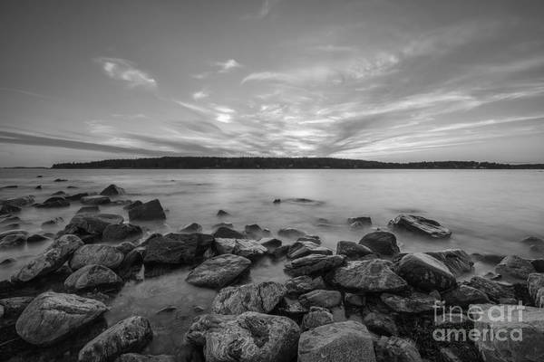 Marshall Point Lighthouse Photograph - Marshall Point Sunset Bw by Michael Ver Sprill