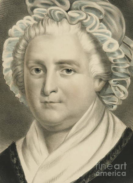 Currier And Ives Painting - Martha Washington  by Currier and Ives