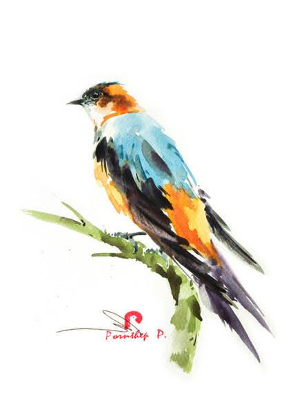 Birdman Painting - Martin Bird by Pornthep Piriyasoranant