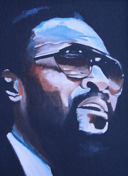 Wall Art - Painting - Marvin Gaye. by Mikayla Ziegler