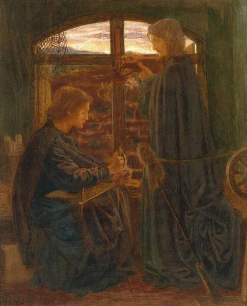 Gabriel Painting - Mary In The House Of St John by Dante Gabriel Rossetti