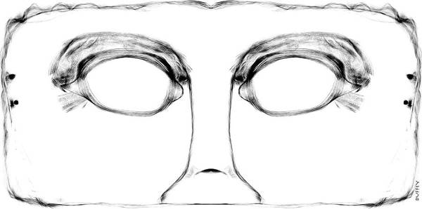 Digital Art - Mask  by Doug Duffey