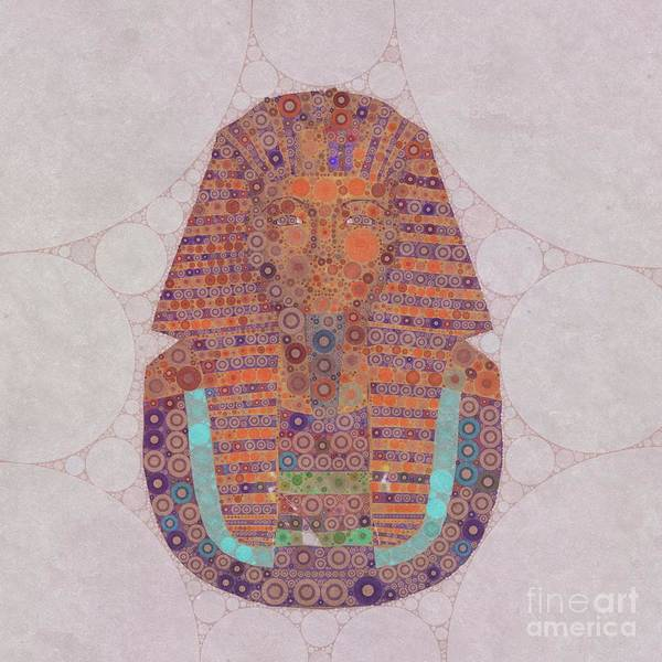 Egypt Digital Art - Mask Of Tutankhamun, Pop Art By Mb by Mary Bassett