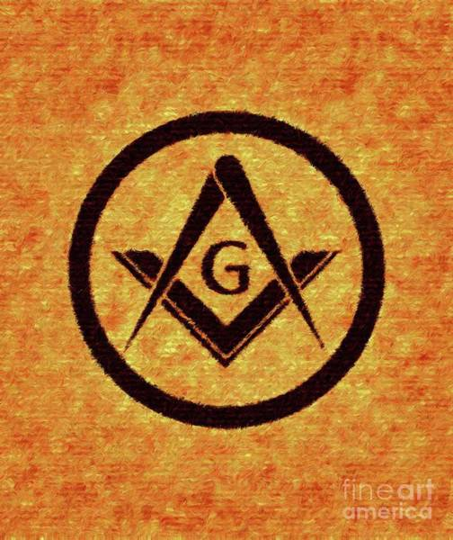 Wall Art - Painting - Masonic Symbolism by Esoterica Art Agency