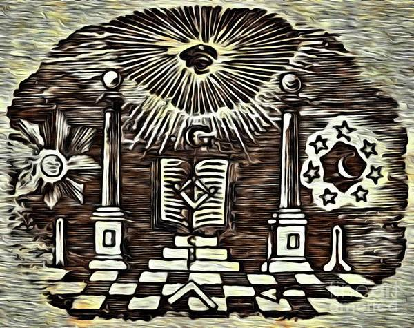Serpent Digital Art - Masonic Symbolism Reworked by Pierre Blanchard