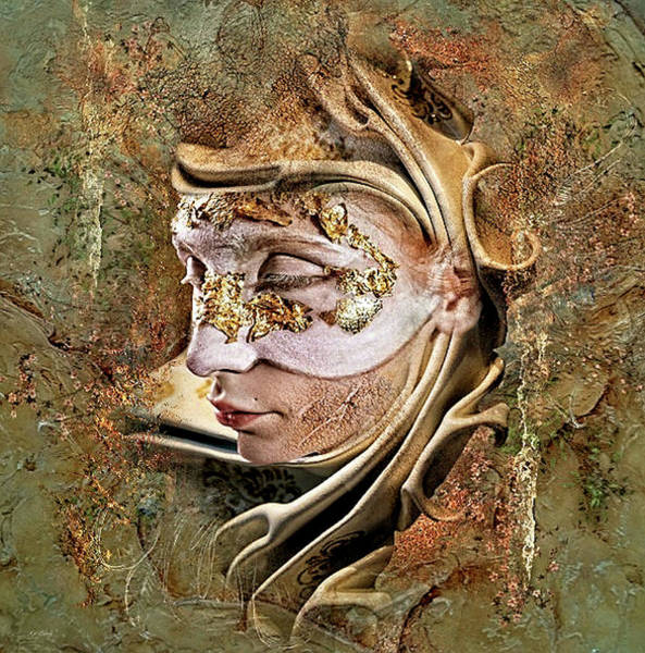 Joyous Mixed Media - Masquerade Beauty by G Berry