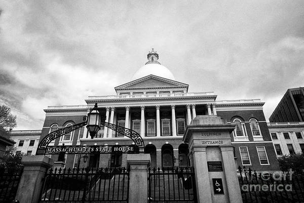 Wall Art - Photograph - massachusetts state house Boston USA by Joe Fox