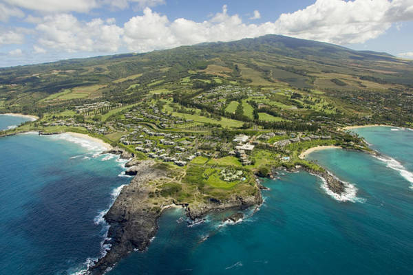 Wall Art - Photograph - Maui Aerial Of Kapalua by Ron Dahlquist - Printscapes