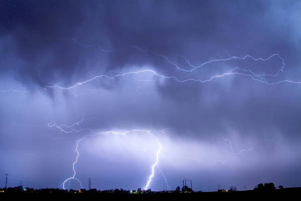 Photograph - May Showers - Lightning Thunderstorm 5-10-2011 by James BO Insogna
