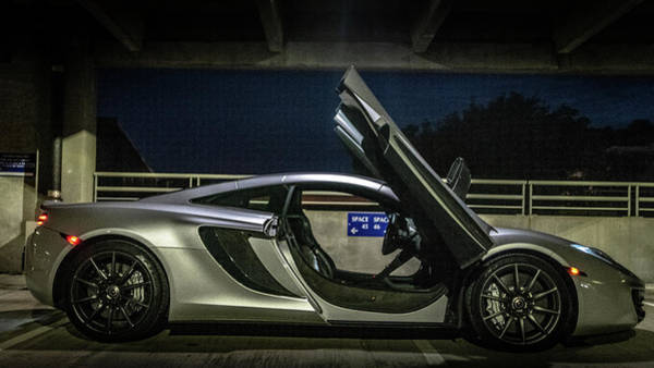 Photograph - Mclaren Mp4-12c Doors Open by Randy Scherkenbach