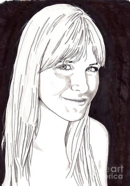 Drawing - Meagan by Bill Richards