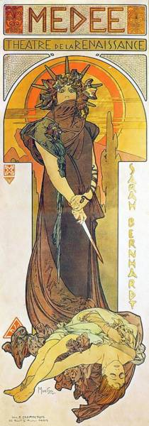 Painting - Medea by Alphonse Mucha