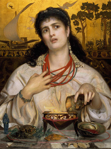 Painting - Medea by Frederick Sandys