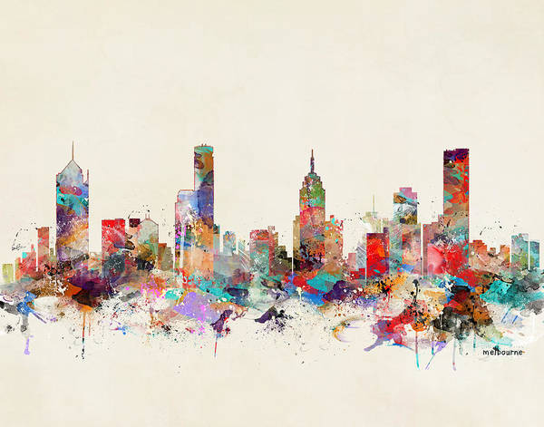 Melbourne Wall Art - Painting - Melbourne Australia by Bri Buckley