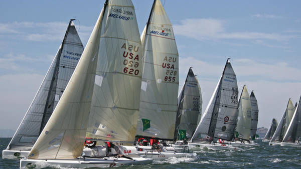Photograph - Melges 24 Start by Steven Lapkin