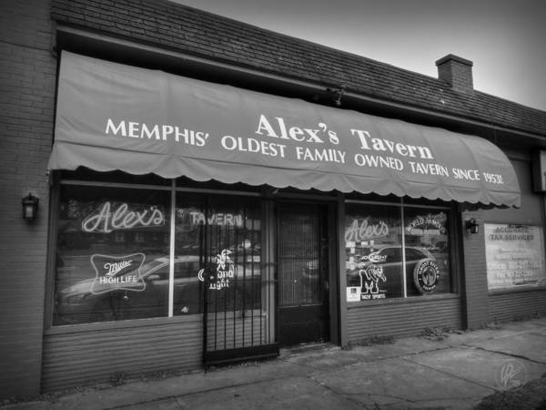 Photograph - Memphis - Alex's Tavern 001 by Lance Vaughn
