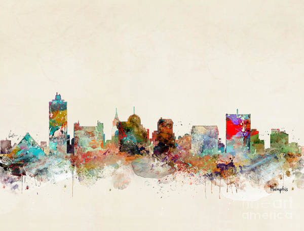 Tennessee Wall Art - Painting - Memphis Tennessee by Bri Buckley