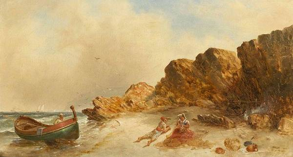 Mending Painting - Mending The Net by William Morris Hunt