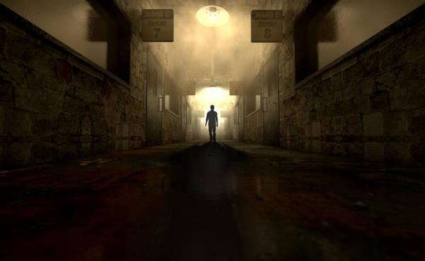 Doorway Digital Art - Mental Asylum With Ghostly Figure by Allan Swart