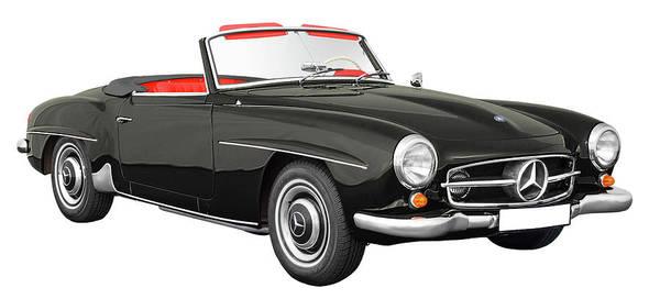 Wall Art - Digital Art - Mercedes-benz 190 Sl Cabriolet by Define Studio