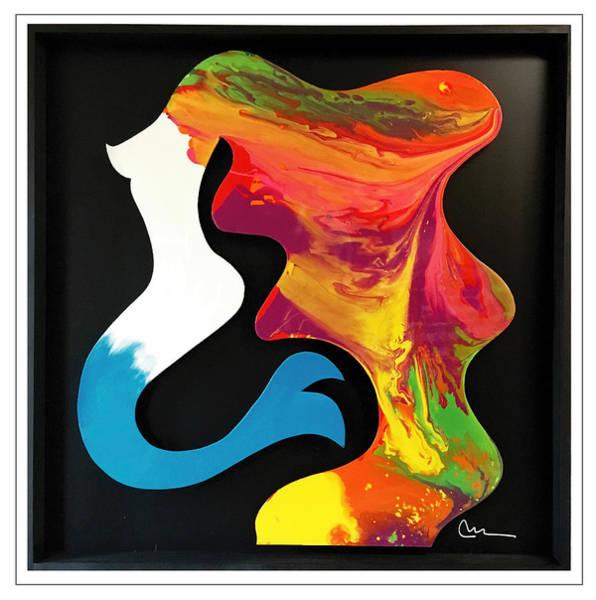 Wall Art - Painting - Mermaid by Mac Worthington