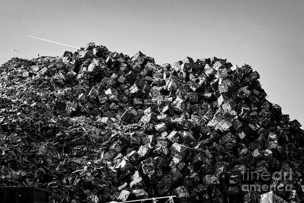 Wall Art - Photograph - Metal Recycling Plant Liverpool Uk by Joe Fox