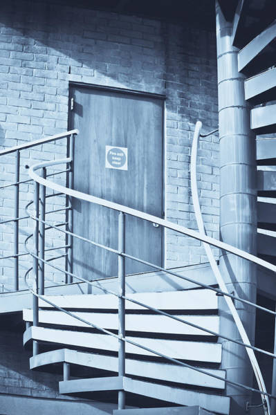Fire Place Photograph - Metal Staircase by Tom Gowanlock