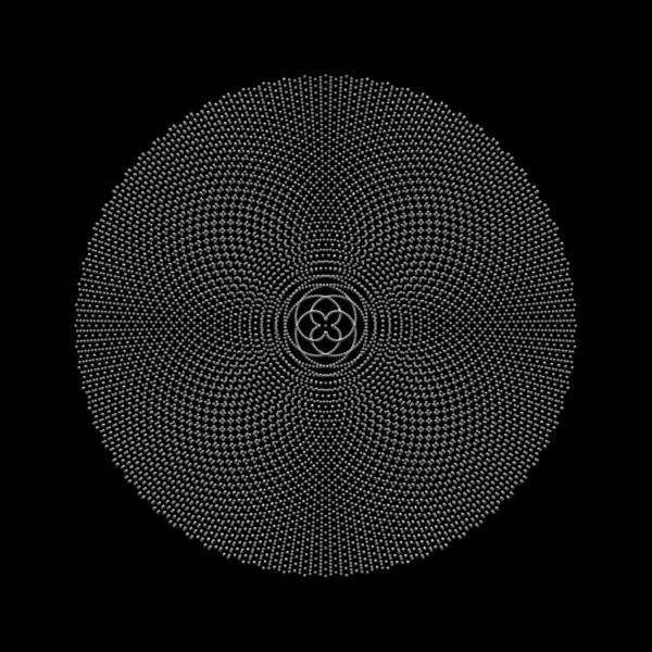 Digital Art - Metallic Beaded Mandala IIib by Robert Krawczyk