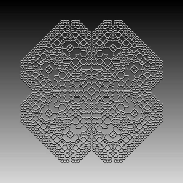 Digital Art - Metallic Lace Cvl by Robert Krawczyk
