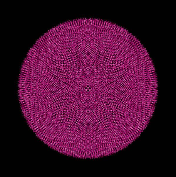 Digital Art - Metallic Mesh Mandala Ib by Robert Krawczyk