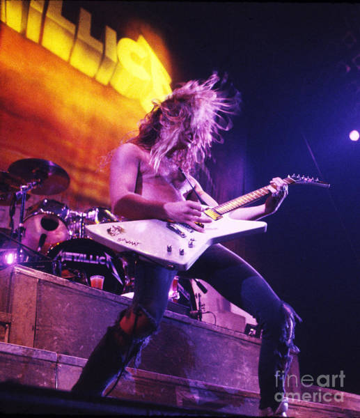James Photograph - Metallica 1986 James Hetfield by Chris Walter