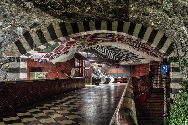 Sverige Photograph - Metro Station Stockholm by Joana Kruse