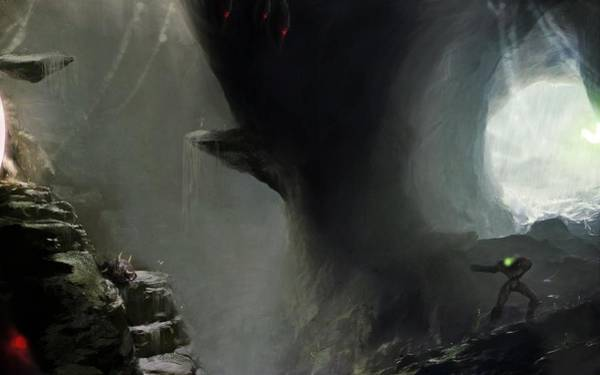 Fantasy Digital Art - Metroid by Super Lovely