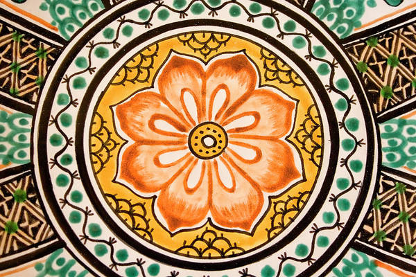 Mexico Photograph - Mexican Tile Detail by Carol Leigh