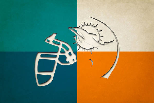 Dolphin Photograph - Miami Dolphins Helmet by Joe Hamilton