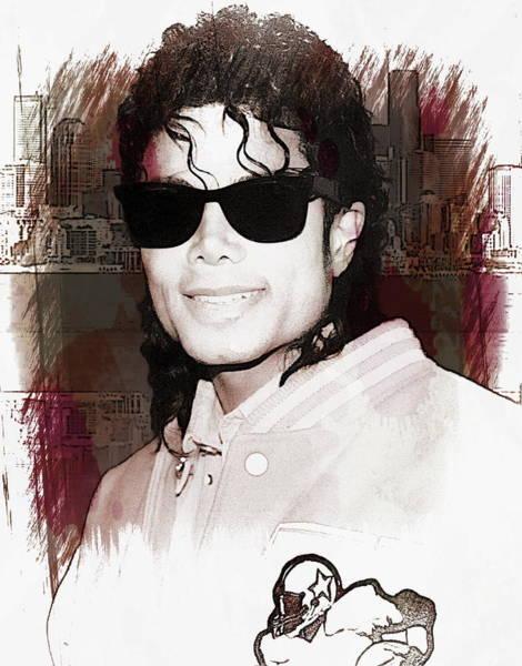 Photograph - Michael Jackson by Anthony Dezenzio
