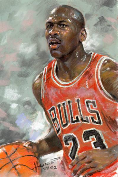 Chicago Bulls Wall Art - Pastel - Michael Jordan by Ylli Haruni