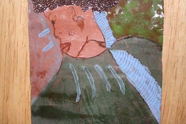 Ceramic Art - Michelle - Tile by Gloria Ssali