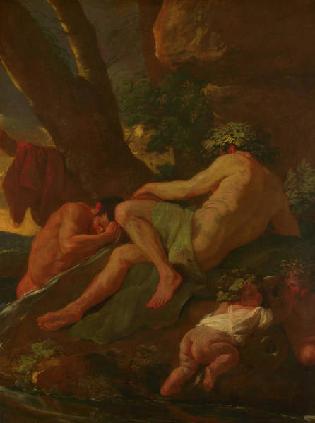 Painting - Midas Washing At The Source Of The Pactolus by Nicolas Poussin