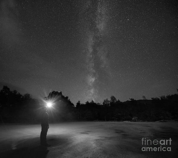 Adirondack Mountains Wall Art - Photograph - Midnight Explorer At The Adirondack Mountains by Michael Ver Sprill